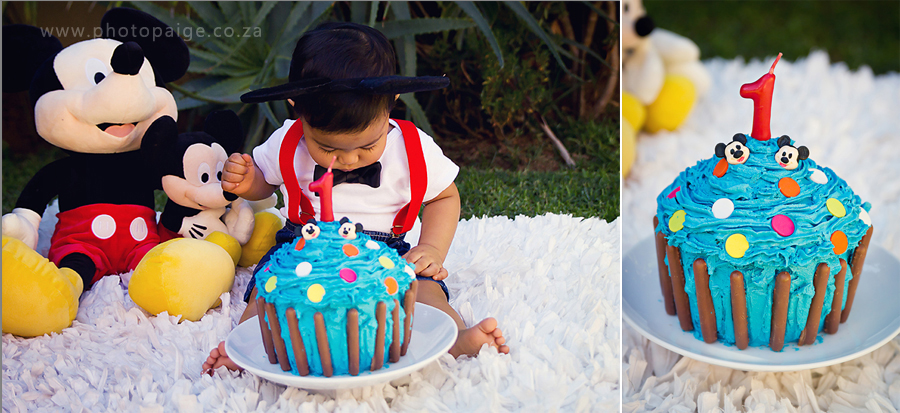 Blakes 1st Birthday Cake Smash Photo Paige Johannesburg